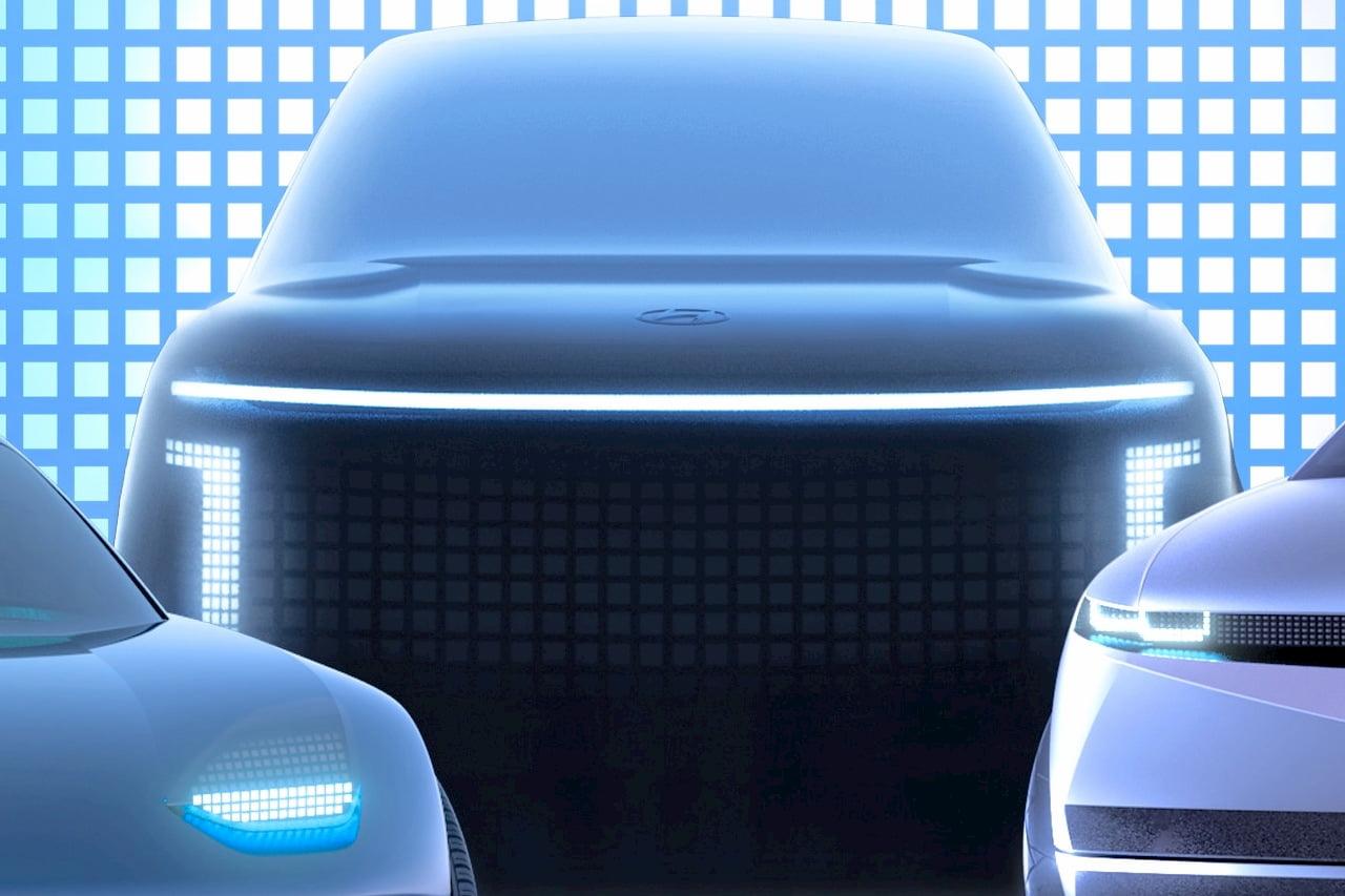 Hyundai Ioniq 7 concept front teaser