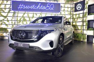 Mercedes EQC India launch front quarters