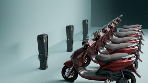 QYK Pod with electric scooters