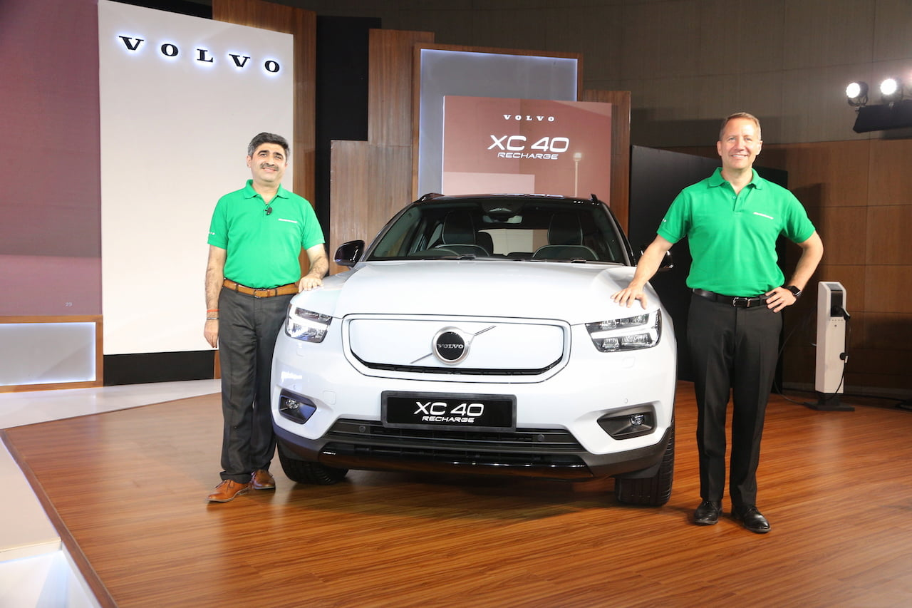 Volvo XC40 Recharge India launch (media launch)