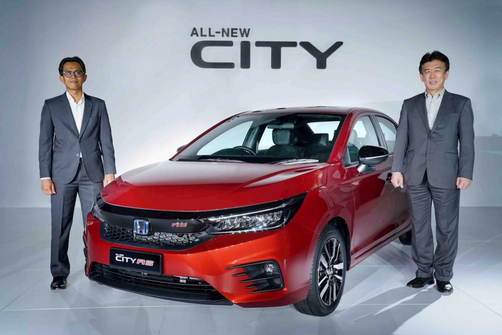 2021 Honda City Hybrid eHEV front quarters launch