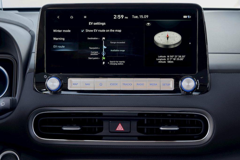 2021 Hyundai Kona Electric facelift 10.25 inch infotainment