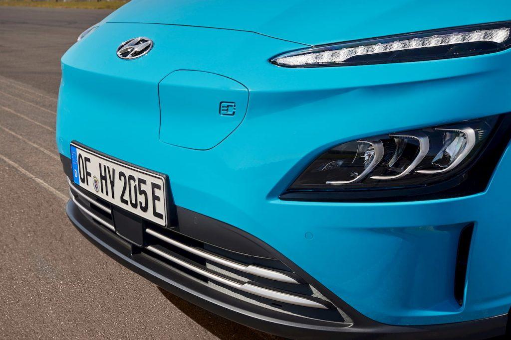 2021 Hyundai Kona Electric facelift front fascia