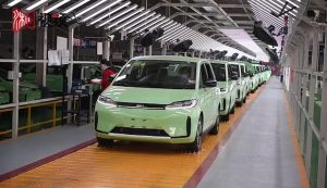 BYD D1 DiDi front three quarters production line