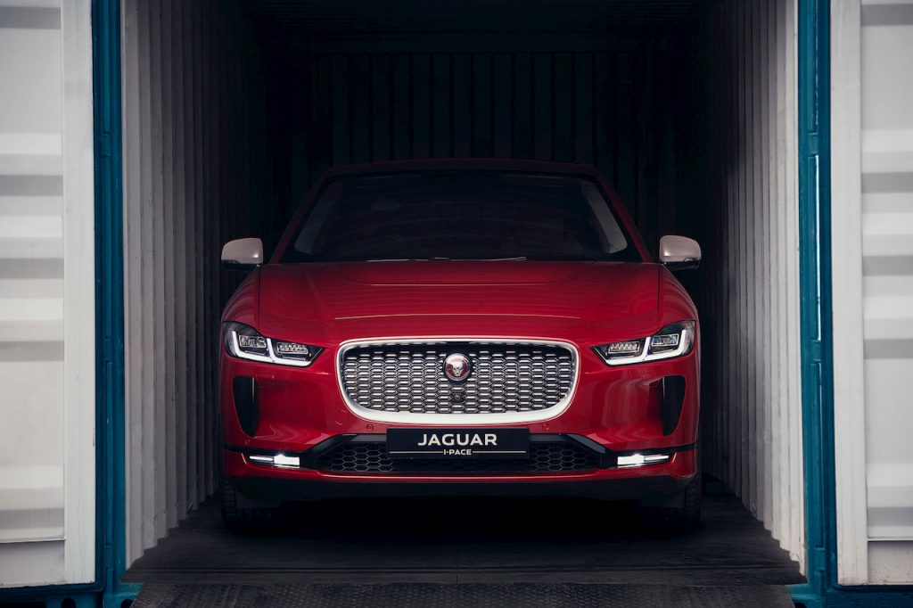 Jaguar I-PACE Front India Firenze Red