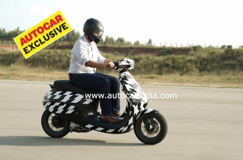 Ola electric scooter side profile spy shot