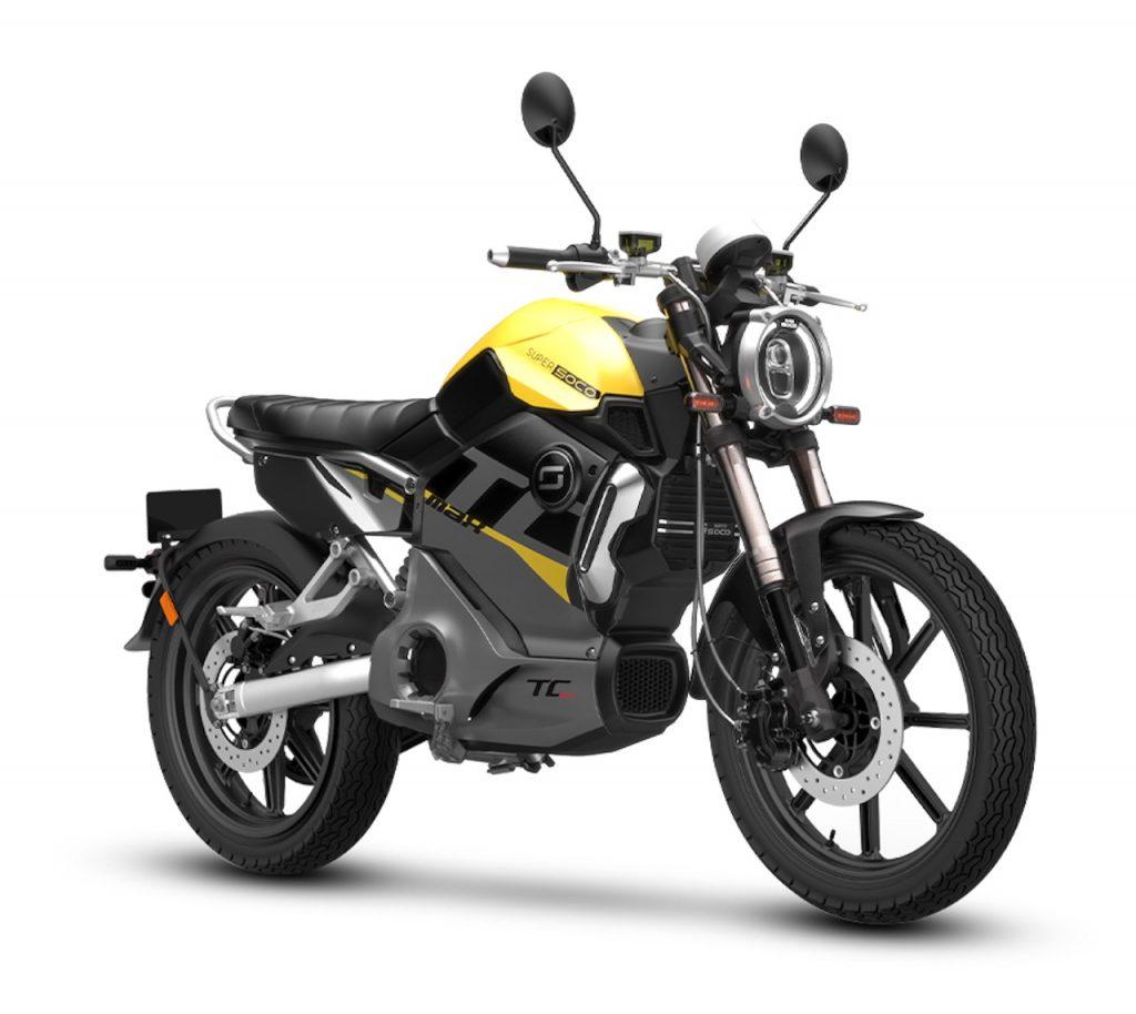 2021 Super Soco TC Max Electric Yellow