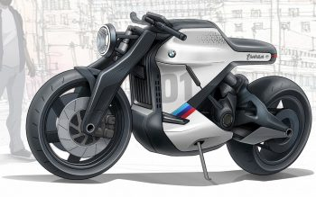 Indian designer's BMW electric cafe racer is a time traveler from 2030