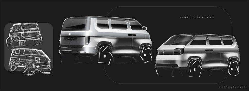 Maruti Omni EV 2021 concept artboard