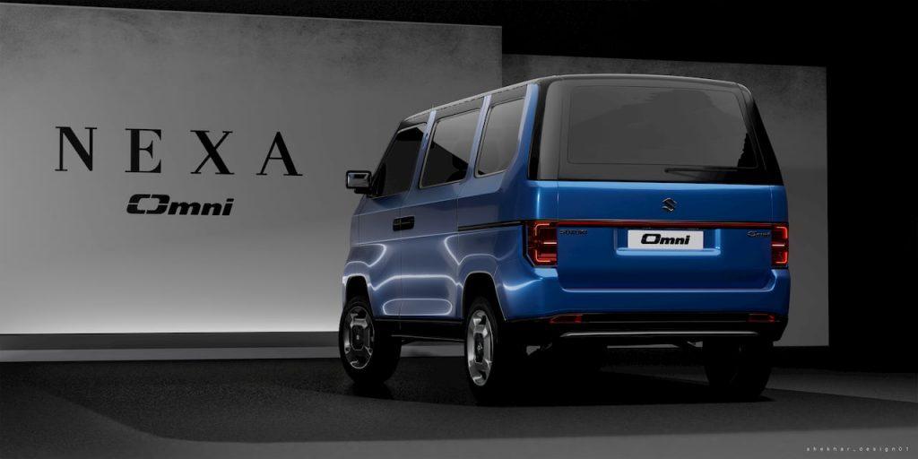 Maruti Omni EV 2021 concept rear
