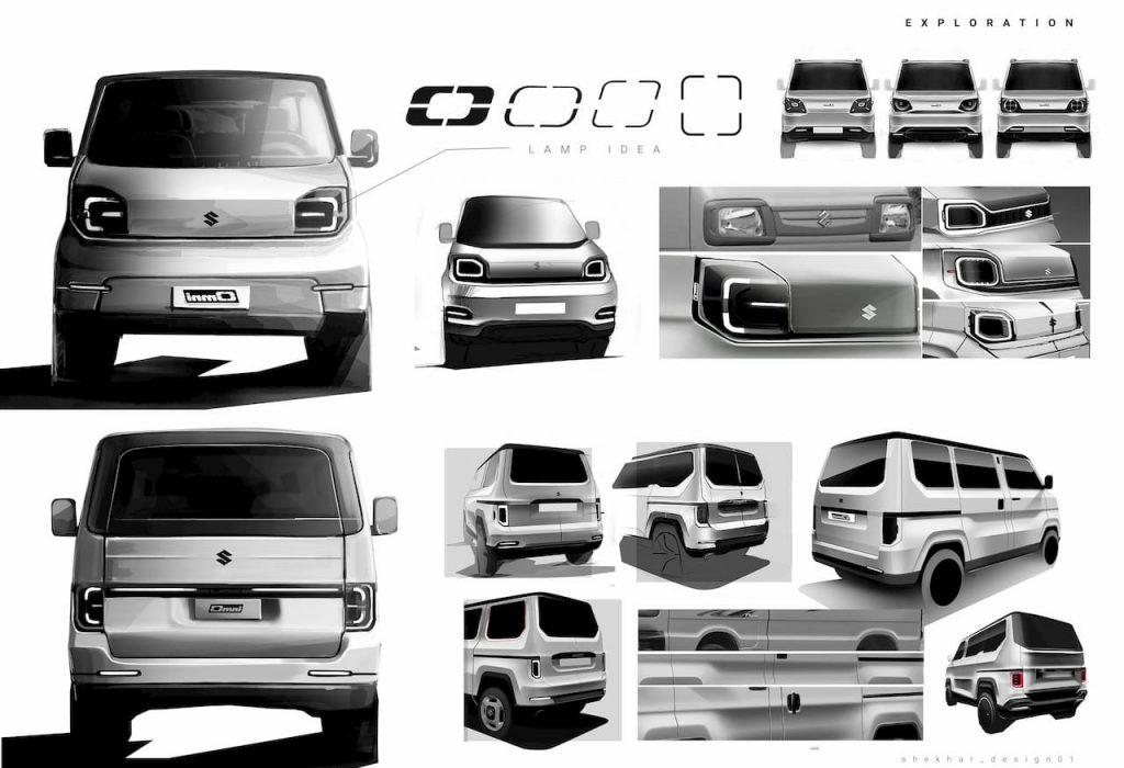 Maruti Omni EV concept sketches