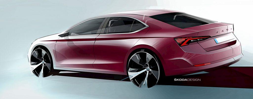 Mk4 2021 Skoda Octavia rear quarters teaser