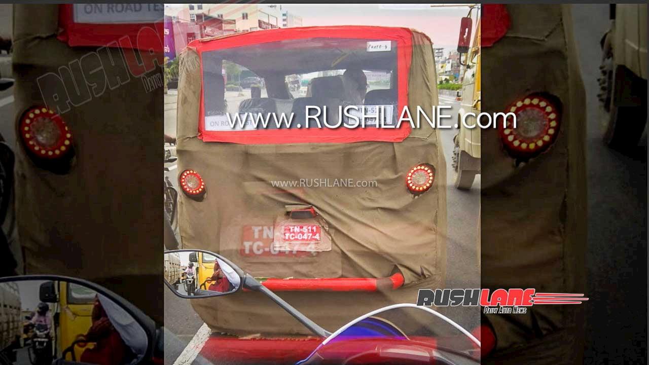 Ola Electric rickshaw spy shot