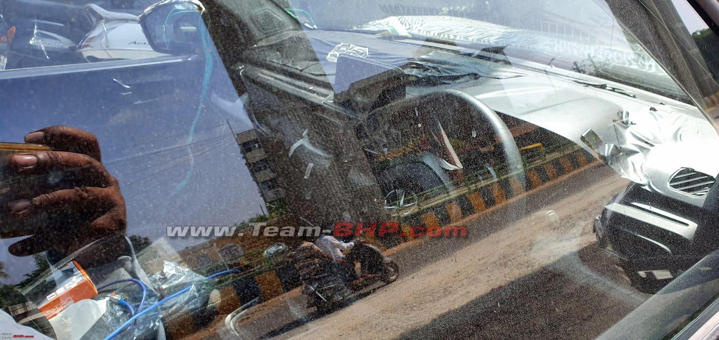 Tata HBX H2X Hornbill interior dashboard spy shot
