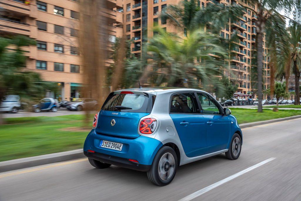 smart EQ forfour rear quarters