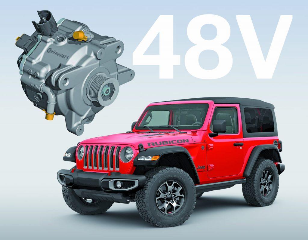 Jeep Wrangler eTorque mild-hybrid system Continental