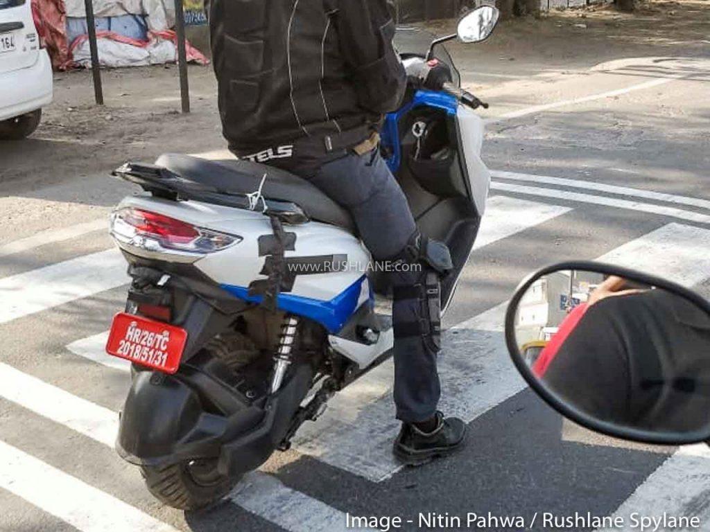 New Suzuki Burgman Electric scooter spy shot