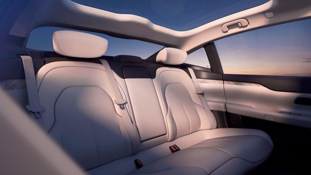 Nio ET7 rear seats interior