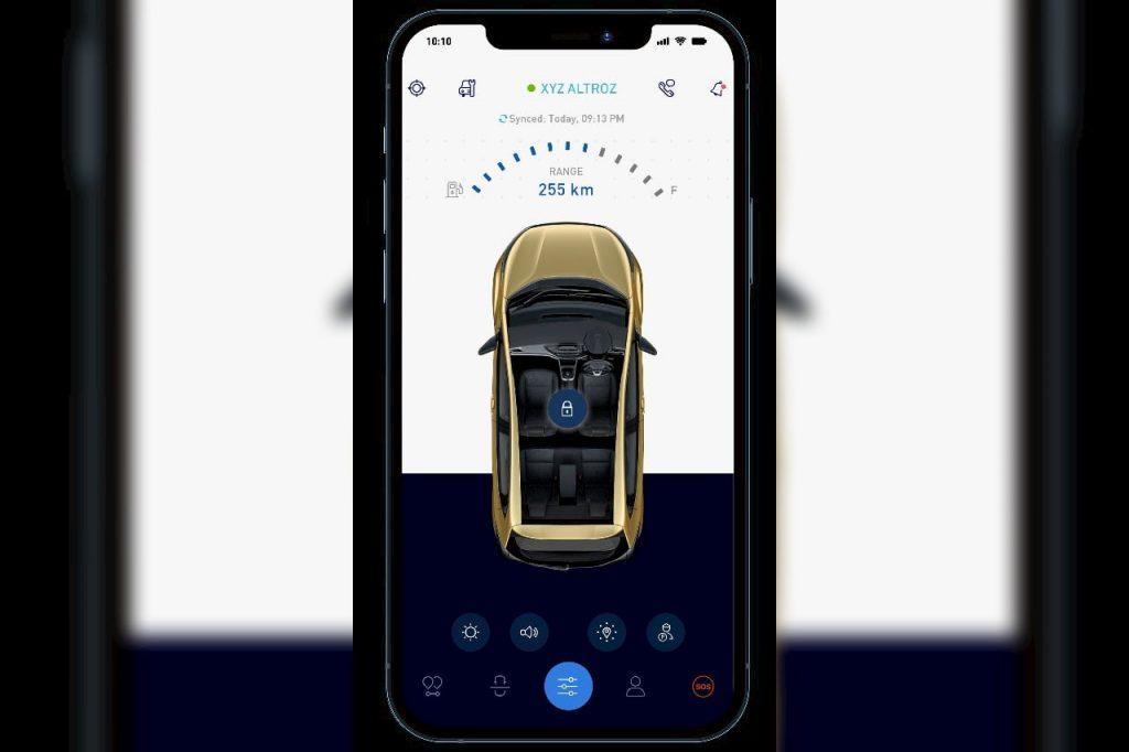 Tata Altroz iRA app Home Screen