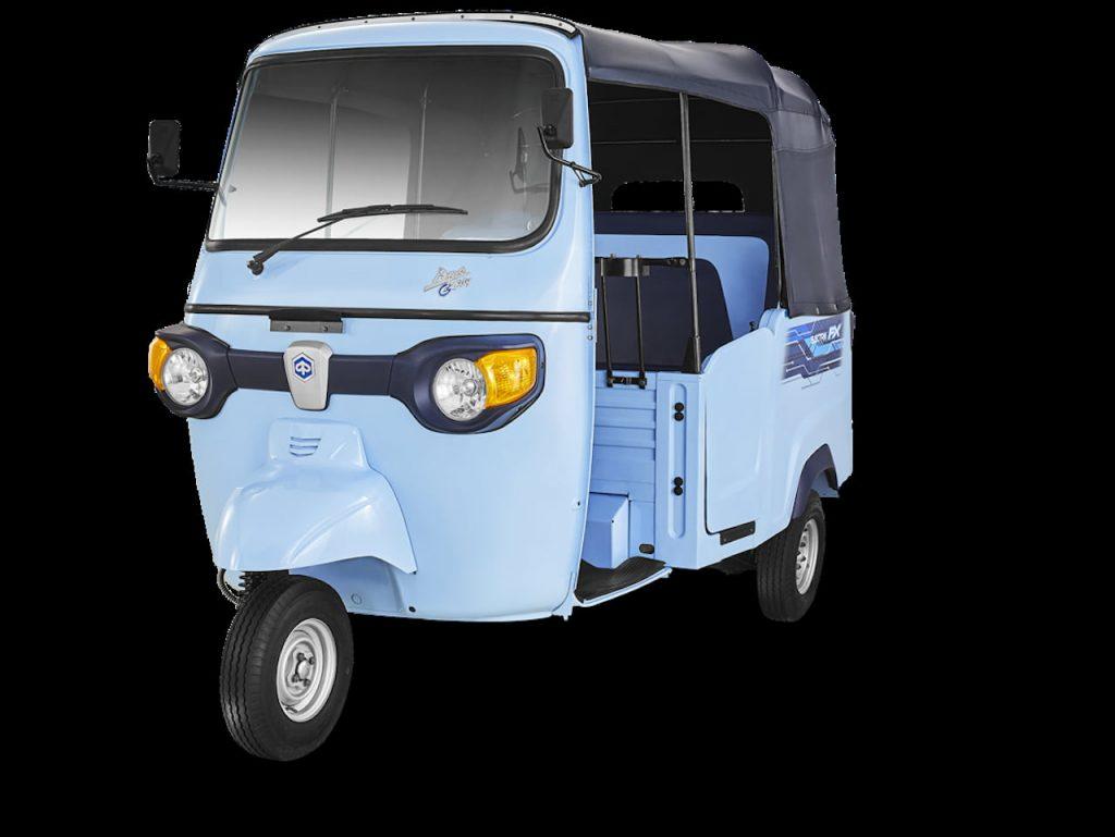Piaggio Ape E-City electric auto front quarters