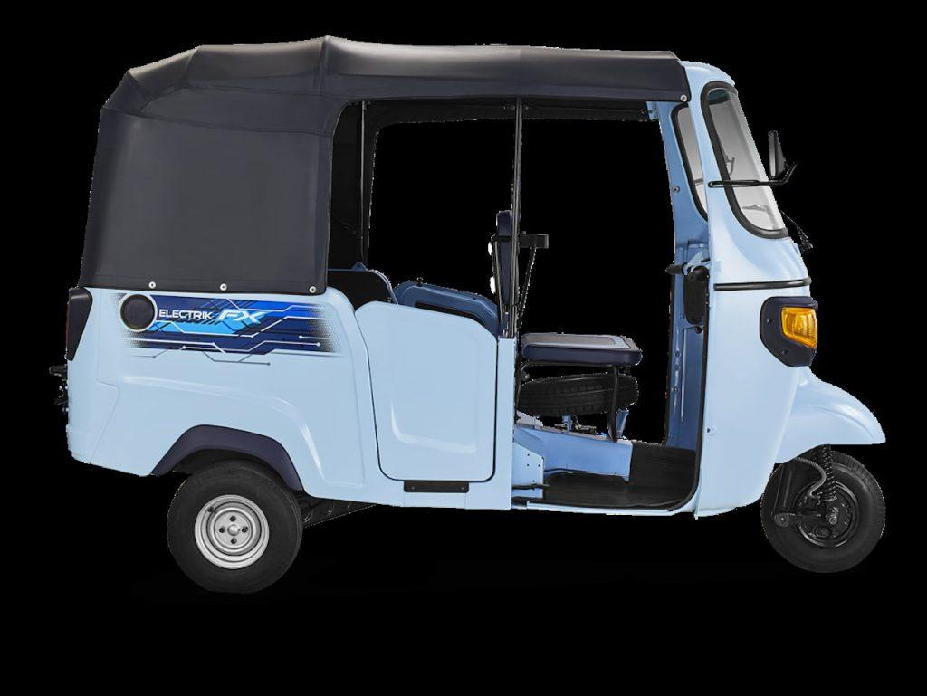 Piaggio Ape E-City electric auto profile side
