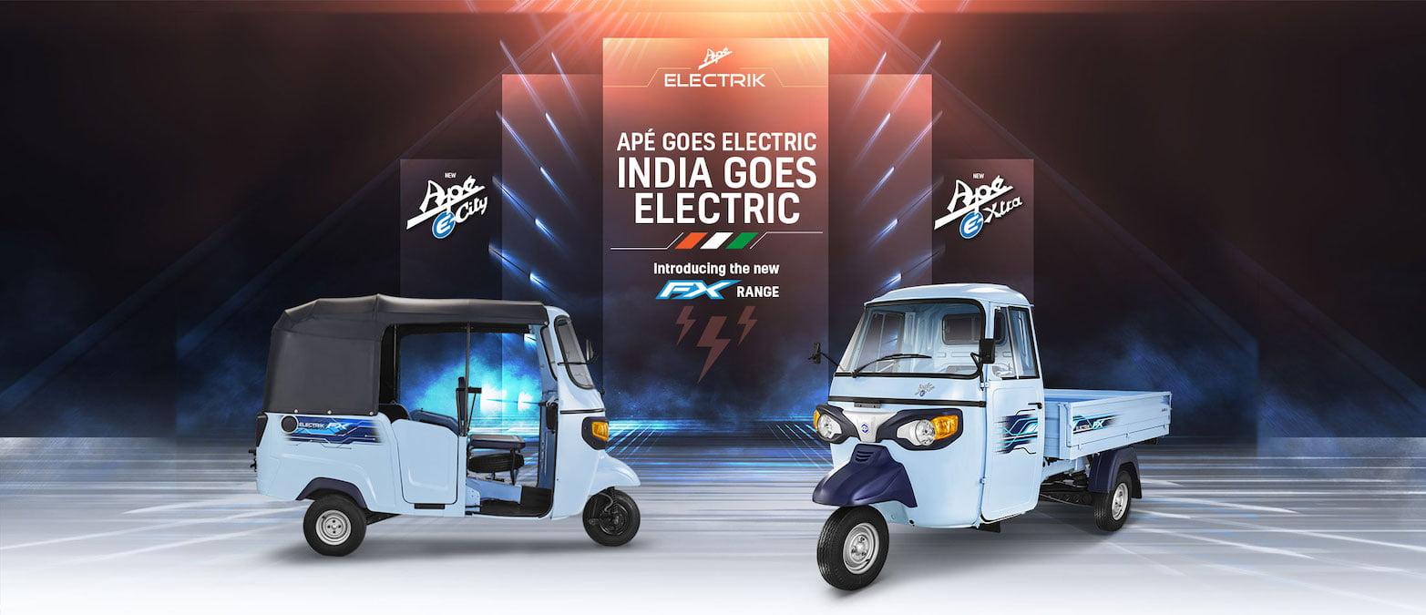 Piaggio Ape e-City FX auto Piaggio Ape e-Xtra cargo