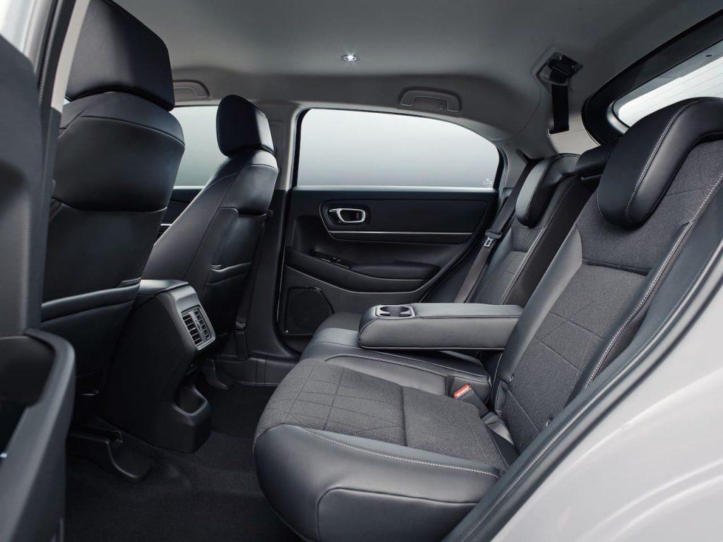 EU 2021 Honda HR-V rear seats