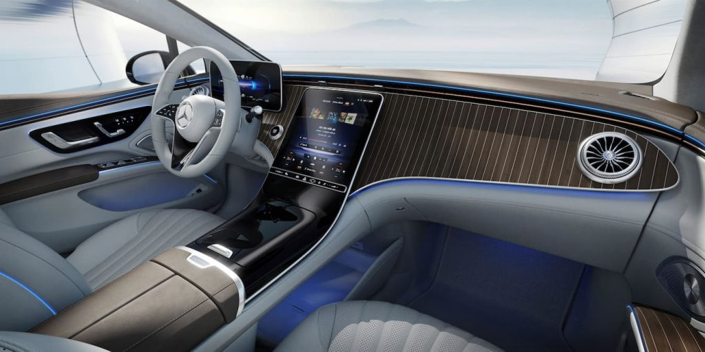 Mercedes EQS interior without MBUX Hyperscreen