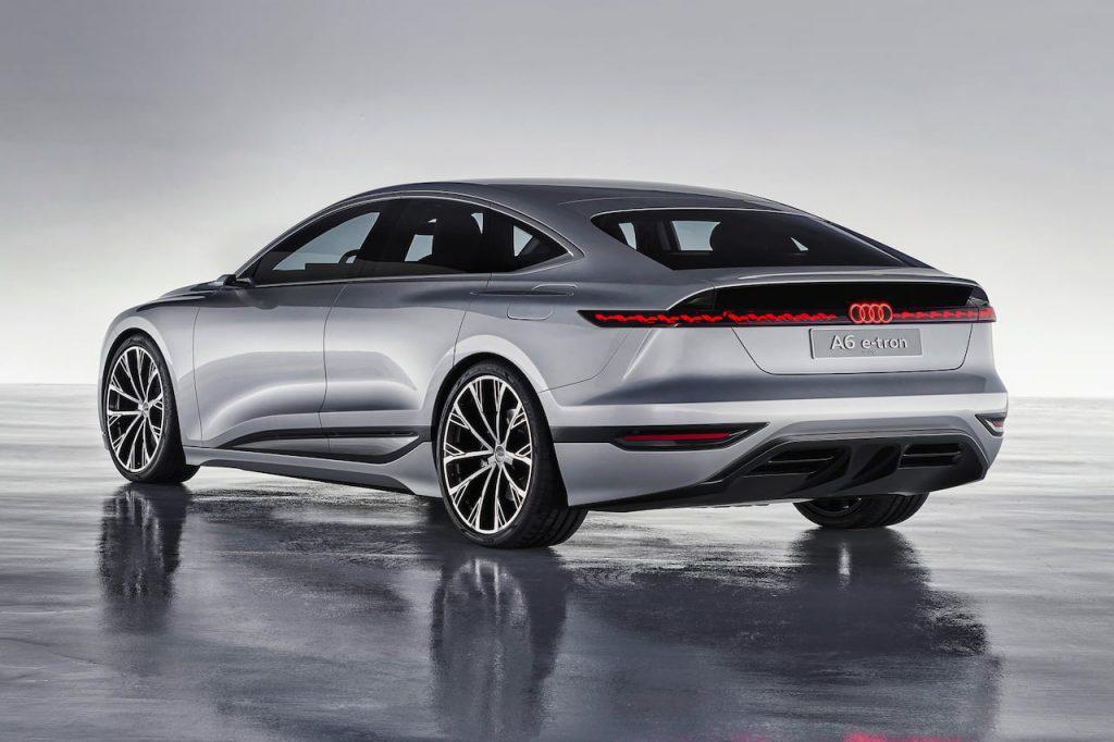 Audi A6 e-tron concept rear three quarters