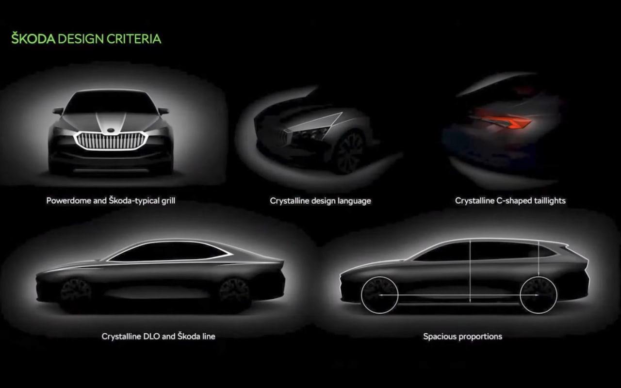 Next-gen Skoda Superb design language preview
