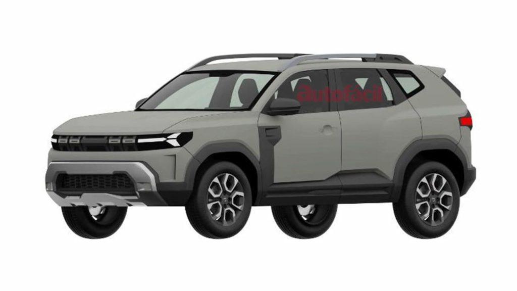 Production Dacia Bigster front three quarters patent