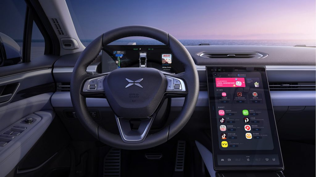 Xpeng P5 interior dashboard driver side