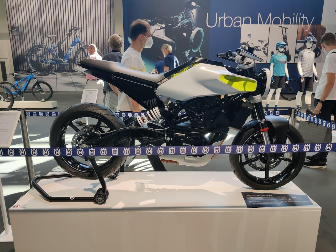 Husqvarna E-Pilen Concept side profile 2021 Munich Motor Show