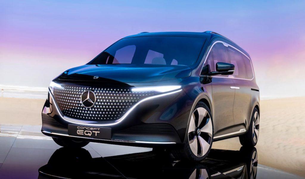 Mercedes EQT concept front three quarters