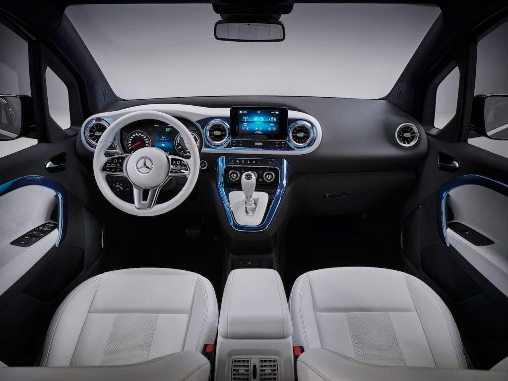 Mercedes EQT concept interior dashboard