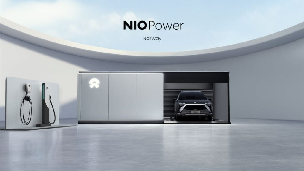 Nio Oslo battery swapping station