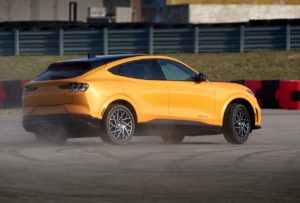 2021 Ford Mustang Mach-E GT Performance Edition rear three quarters