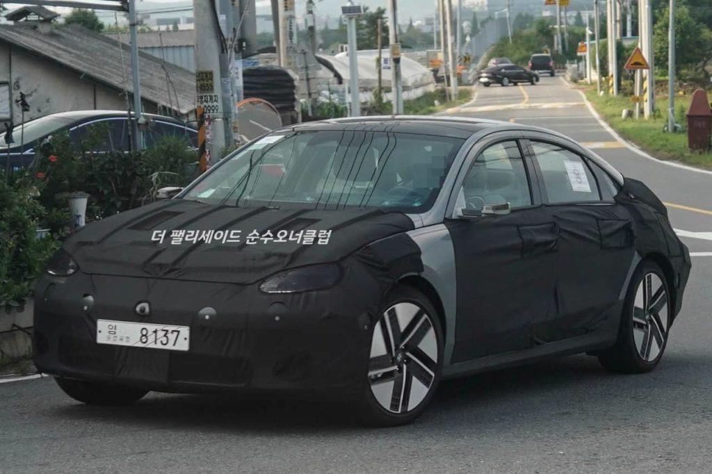 Hyundai Ioniq 6 front three quarters spy shot