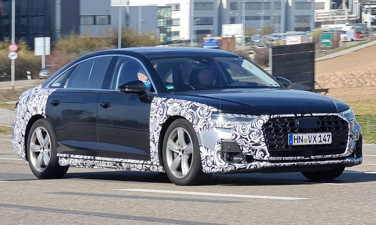 2022 Audi A8 spy image