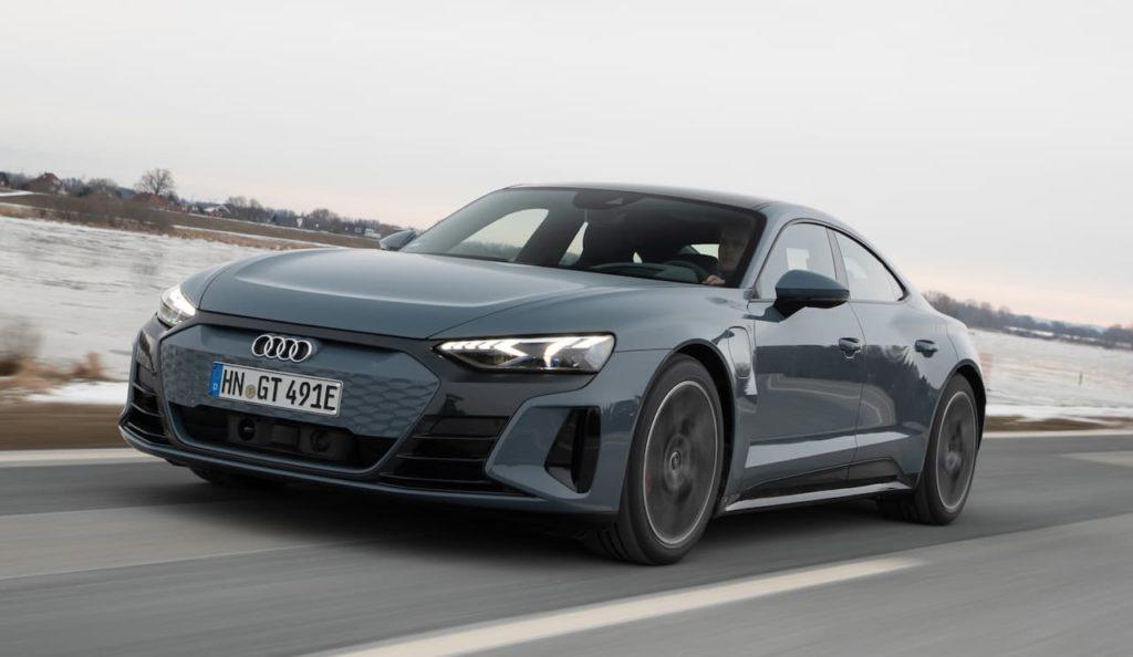 Audi e-tron GT front three quarter right