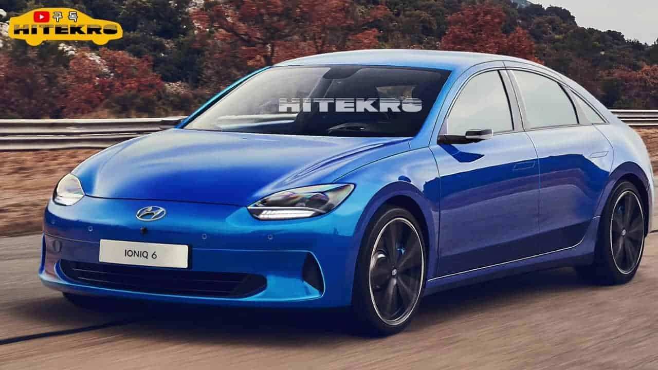Hyundai Ioniq 6 rendering Hitekro