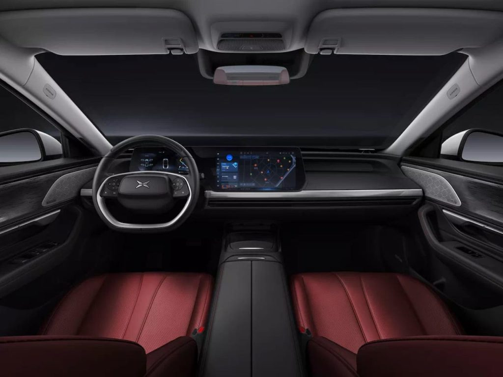 Xpeng P7 interior dashboard norge