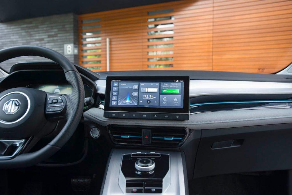2022 MG5 EV infotainment system