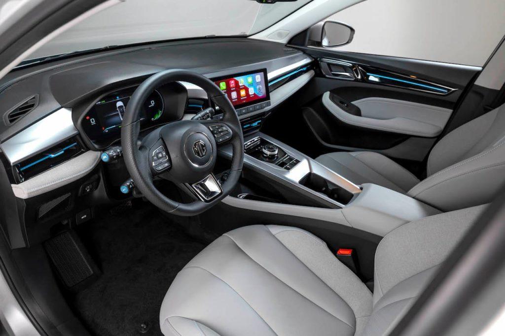 2022 MG5 EV interior dashboard