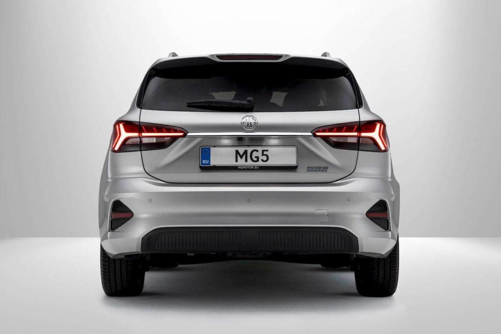 2022 MG5 EV rear tail lights