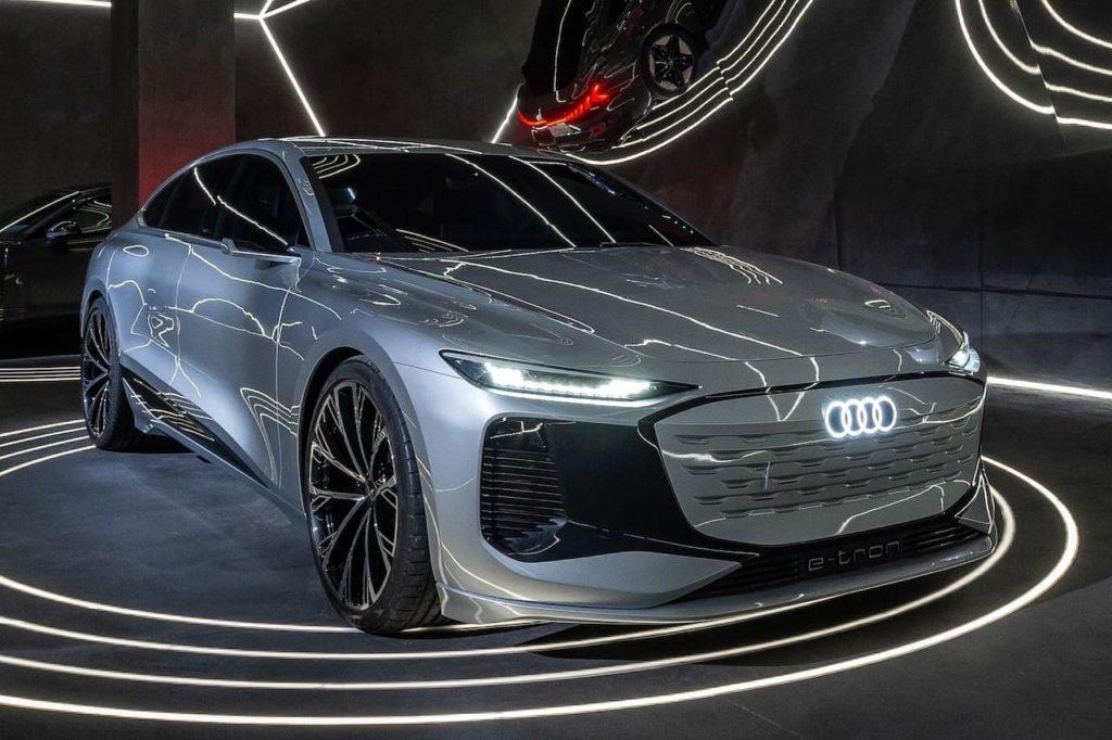 Audi A6 e-tron front three quarters Milan