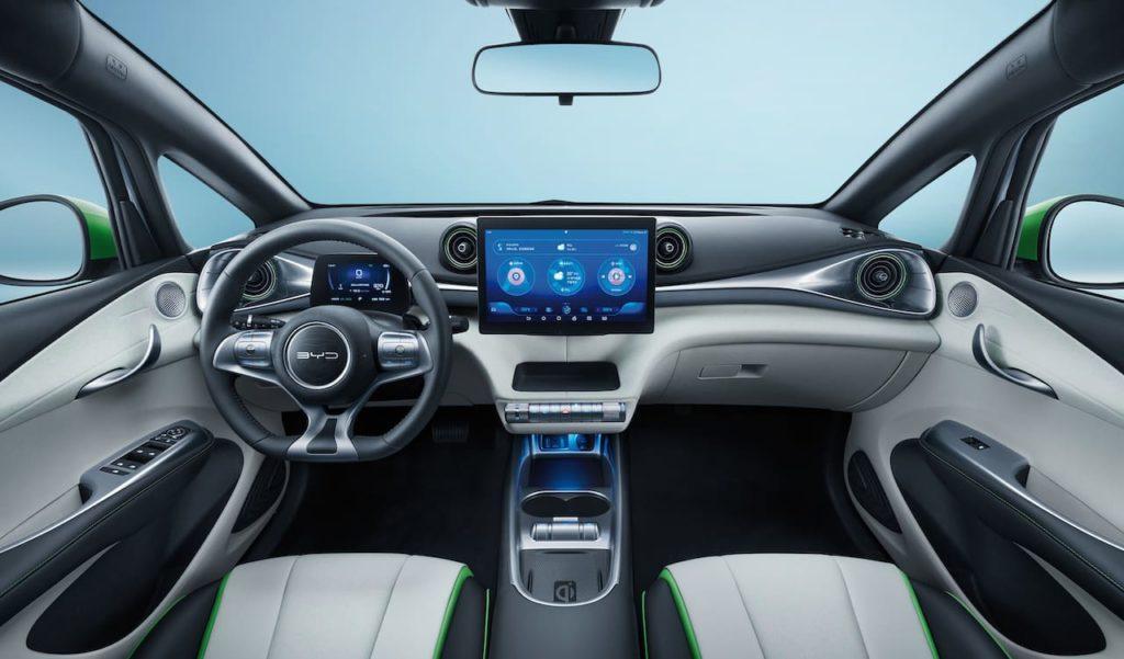BYD Dolphin interior dashboard