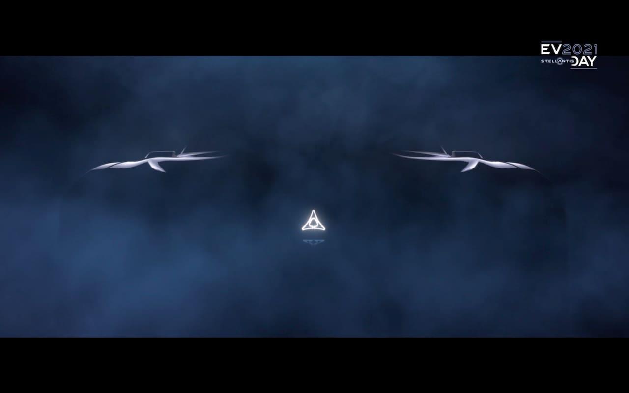 Dodge electric car concept front teaser