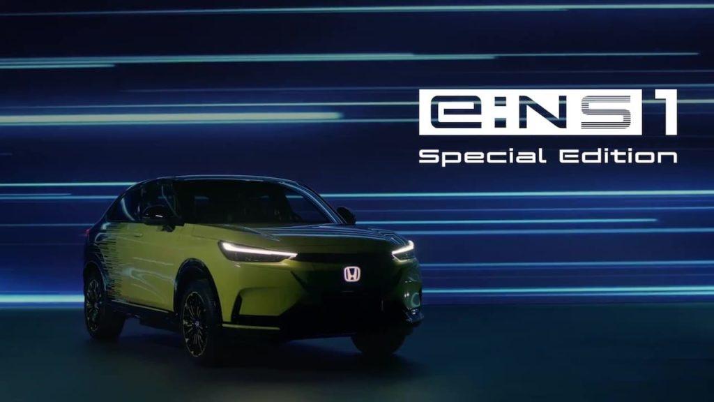 Honda eNS1 front three quarters teaser