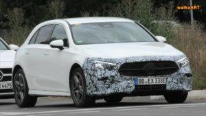 2022 Mercedes A-Class facelift front spy shot